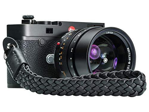 Vi Vante Bengal Unleashed Black Leather Camera Wrist Strap Ultra Soft Lambskin