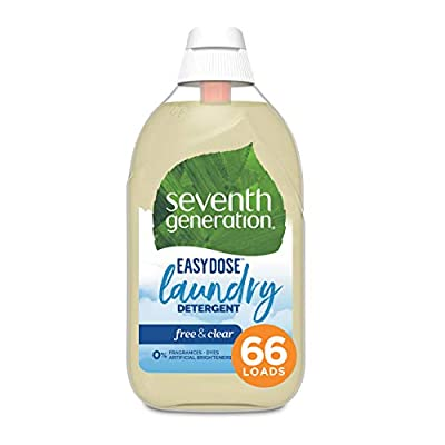 Seventh Generation Laundry Detergent, Ultra Concentrated EasyDose, Free & Clear, 23 oz, 66 Loads (Packaging May Vary)