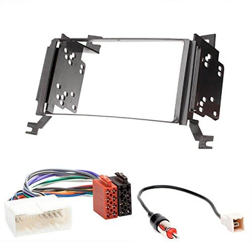 CARAV 11-019-14-1 Kit d'installation d'autoradio 2 DIN pour Santa Fe 2006-2010 (avec navigation) + câble adaptateur ISO et antenne