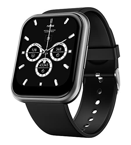 Noise ColorFit Ultra Smartwatch with 1.75' HD TruView Display, 60 Sports Modes, SpO2, Heart Rate, Stress, REM & Sleep Monitor, Calls & SMS Quick Reply, Stock Market Info (Gunmetal Grey)