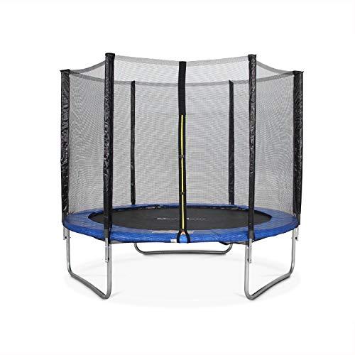 Alice's Garden Cama elástica 245 cm, Trampolín para niños Azul, aguanta hasta 100 kg (Estructura Reforzada). Incluye: Red de protección- PLUTON