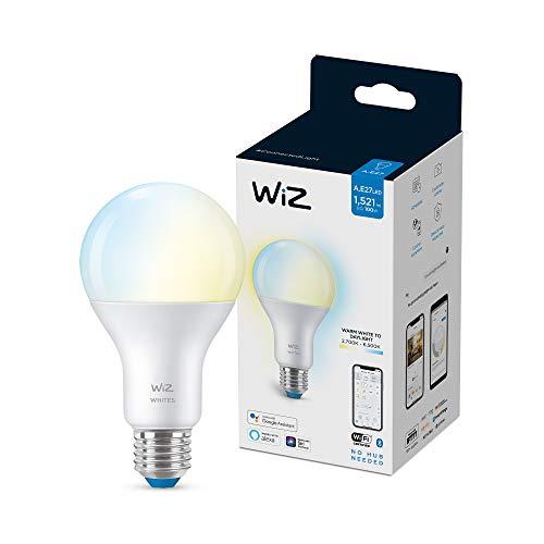 Wiz bombilla Wifi y bluetooth LED regulable blancos A67 100w E27, 2700-6500K, 13W (equivale a 100 W), A+
