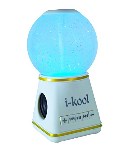 I-kool 4 Changing Colors Water Dancing Speaker Bluetooth 4.0 Wireless (Globe White)