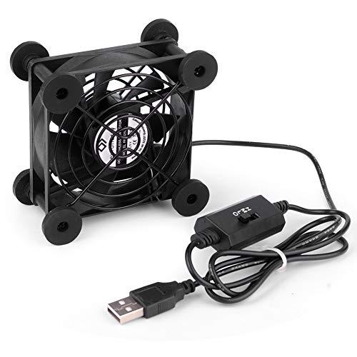 euroharry Ventilador de PC USB 80MM Mit 3-Gang verstellbarem 5V / 0.3A USB-Lüfter, mit Metallgrillschutz Gehäuselüfter zum pc / Laptop / Stereo-Vollverstärker
