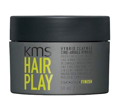 KMS HAIRPLAY Hybrid Clay Wax, 1.6 oz