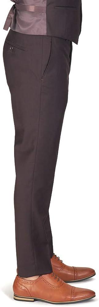 Slim Fit Men Suit Brown 2 Button Notch Lapel AZAR 4030-15