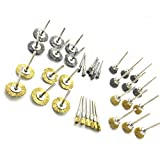 PANOVOS 36Pcs Brass Steel Wire Brush Polishing Wheels Full kit for Rotary Tools Power Rotary Tool Buffing...