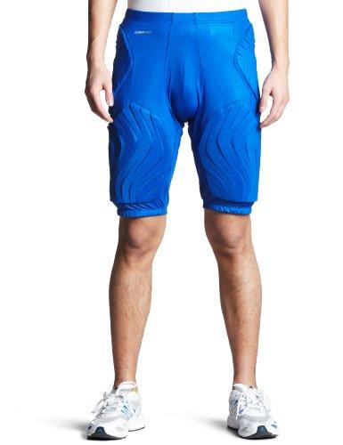 Adidas Techfit GFX Pantaloncini sportivi imbottiti da uomo, da basket, O25486, Blau, XXL