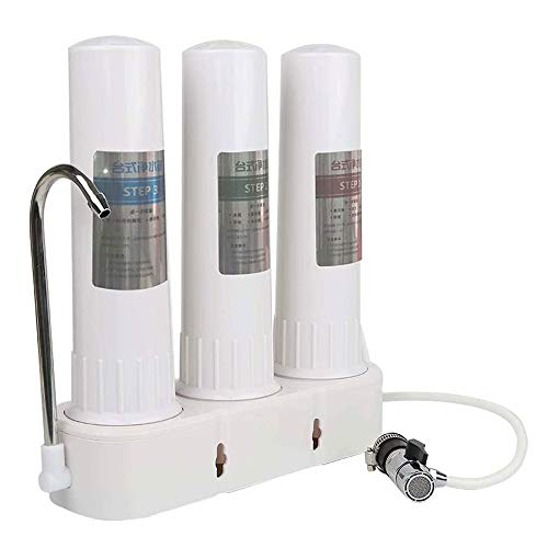 TRPYA Water Purifierkraan, desktop, ultrafiltratie, rechte drankjes, 3-traps filtratie verwijderen restchloor en sediment huishouden keuken