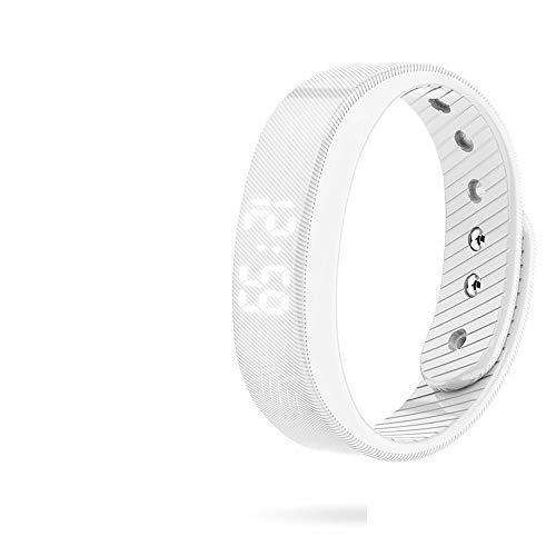 Alvnd multifunctionele armband IP67 waterdichte functie met stappentellerarmband en calorieëntellerarmband, universeel, wit
