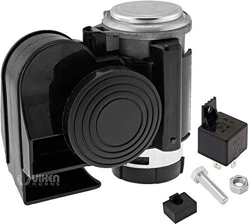 Vixen Horns Loud Powerful Dual-Tone Compact Electric Air Horn for Motorcycles/Cars/Boats/ATV Black 12V VXH1608B
