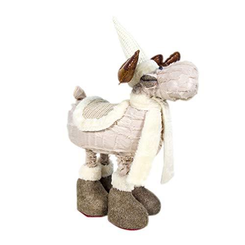 Holibanna Reno Felpa muñeca de Peluche Navidad Navidad Adorno navideño