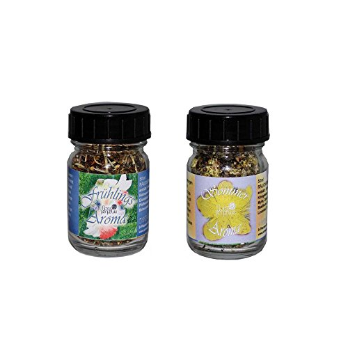 Set Räuchermischung Spring and Summer Aroma von Flora Incense, in 50 ml Glasfläschen