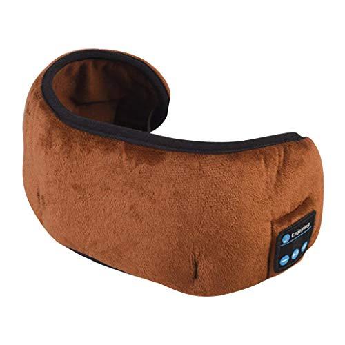 harayaa 2020 Schlafkopfhörer 3D Schlafmaske Augenmaske Binaurale Stereoanlage für Seitenschläfer - Braun