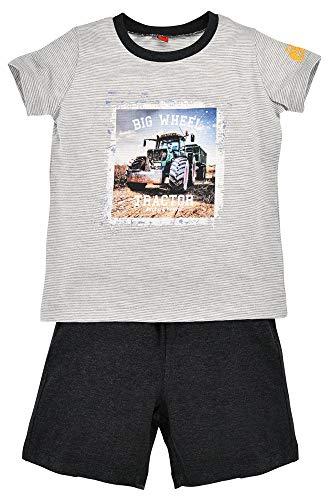 BONDI Shorty Big Wheel 33130 - Pijama corto de verano para niños, color gris/antracita gris 98 cm