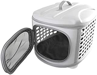 comprar comparacion YATEK Transportin Plegable Perros y Gatos Lavable Recomendado para Mascotas de hasta 6kg de Color Gris Claro