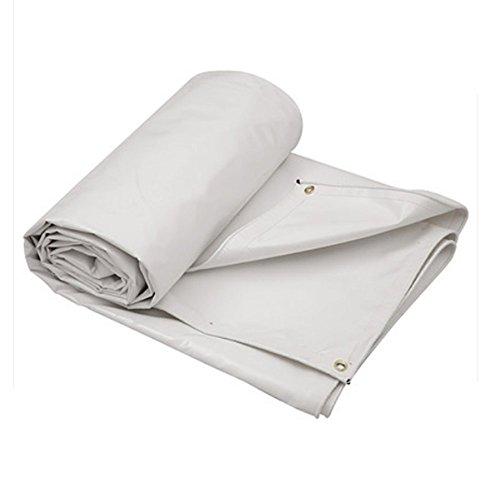 DNSJB Impermeable a Prueba de Lluvia Lona Impermeable toldo toldo Lona Impermeable Protector Solar Impermeable de PVC (Color : White, Size : 6x6m)