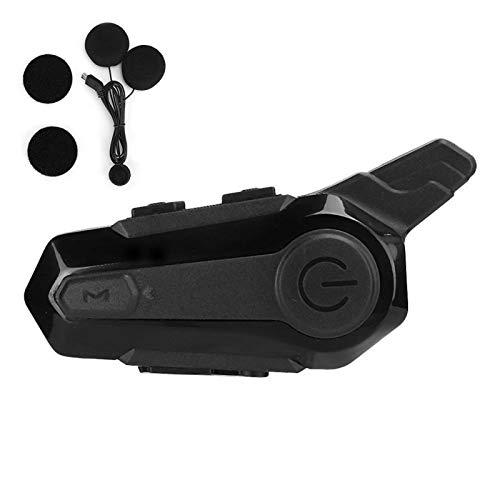 Agatige Auriculares Bluetooth para Motocicleta, Sistemas de Comunicación Bluetooth para Cascos de Motocicleta, Equipo de Ciclismo Walkie Talkie Inalámbrico para Esquiar Motos Camping