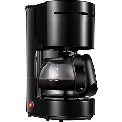 DDQQ Cafetera automática, cafetera Espresso, cafetera Americana automática doméstica (con Enchufe de conversión), Sistema de Calentamiento rápido, 600 vatios