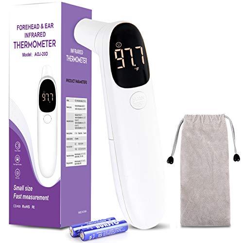 DISEN kontaktlos Fieberthermometer, digital Stirnthermometer Ohrthermometer, Infrarot Thermometer fieber, für Stirn und Ohr für Baby Erwachsene
