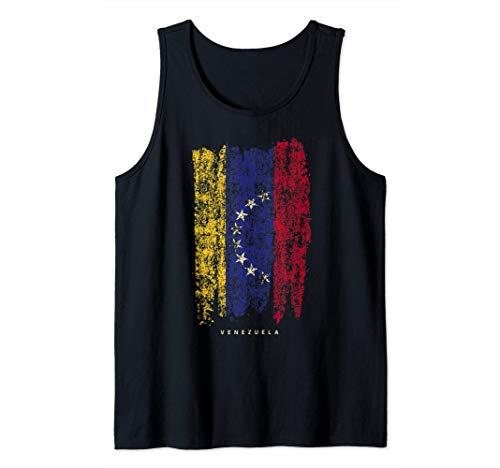 Bandera de Venezuela Vintage orígenes venezolanos Camiseta sin Mangas