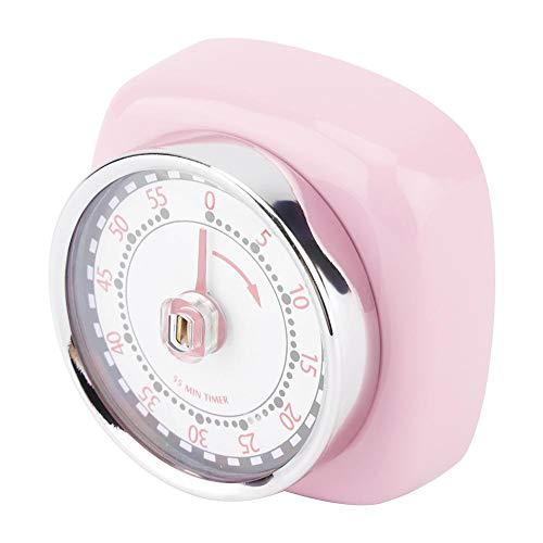 Temporizador de cocción, Temporizador, antioxidante, Profesional, Acero Inoxidable, Duradero, fácil de Usar, con Base magnética, para la Cocina casera(Pink)