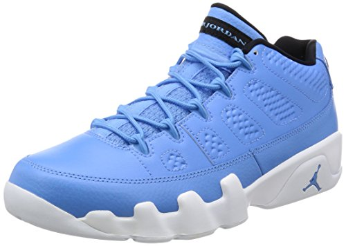 Nike Herren Air Jordan 9 Retro Low Basketballschuhe, Blau/Weiß (Unvrsty Bl Unvrsty Bl White Bl), 42.5 EU