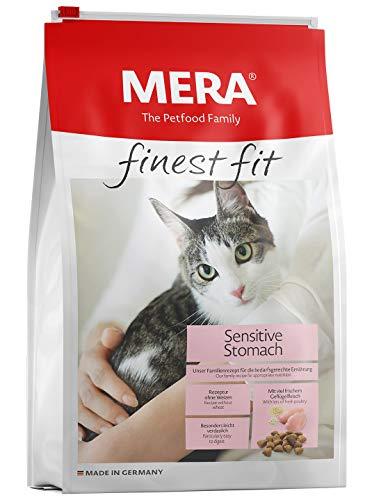 MERA finest fit Sensitive Stomach Katzenfutter – Weizenfreies Trockenfutter mit frischem Geflügel, Reis und Kamille für nahrungssensible Katzen