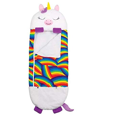 YUY Saco de dormir para animales, de terciopelo, cálido, plegable, suave, cómodo, ligero, compresión, unicornio, dibujos animados, para interiores y exteriores