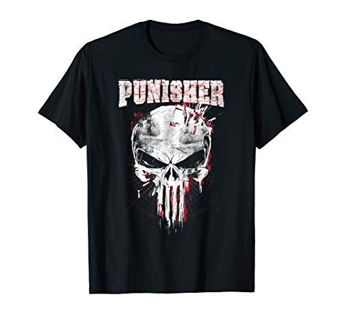 Marvel The Punisher Skull and Logo T-Shirt