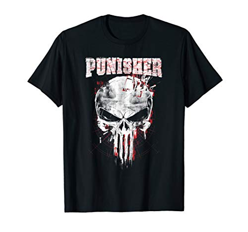Marvel The Punisher Skull and Logo T-Shirt