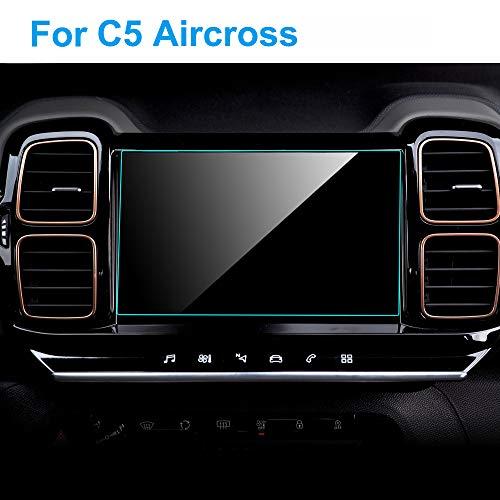 HCDSWSN Protecteur d'écran de Voiture, pour Citroen C5 Aircross HD, Voiture en Verre trempé de Navigation GPS, Protection de Film, Accessoires intérieurs intérieurs