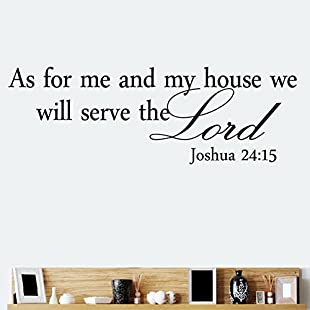 Auntwhale As For Me And My House We Will Serve The Lord Wall Decal Sticker Art Mural Home Décor Quote Lettering Christian Verse Scripture Religious Bible:Maskedking