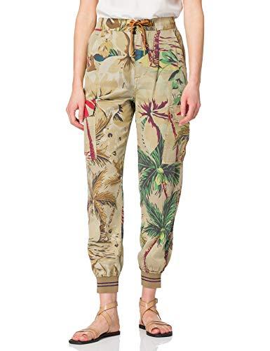 Desigual Pant_Touche Pantalones Informales, marrón, XL para Mujer