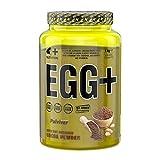 4+ NUTRITION - Egg + 1000 g, 1 kg, 1 unidad de proteína de albúmina hasta un 75% de proteína pura sin azúcar (chocolate)