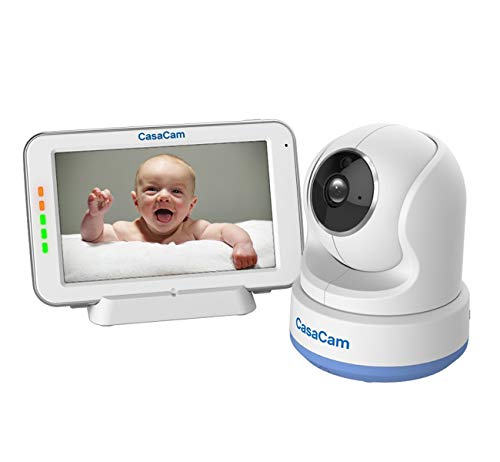 CasaCam BM200 Video Baby Monitor with 5' Touchscreen and HD Pan & Tilt Camera,...