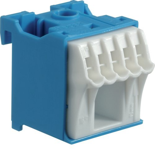 Hager Quick Connect – Steckdosenleiste Neutral 1 x 25 mm2 + 5 x 4 mm2 (2 Stück N-Klemmblock)