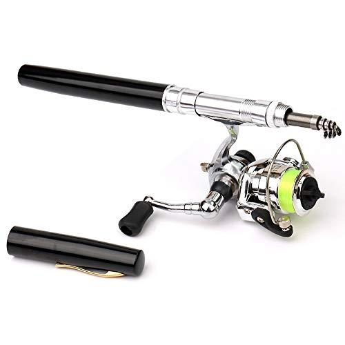 WJQ Stift Angelrute Metall-Spinnrad Outdoor-Produkte Robust, verschleißfest, leicht einzufahren, einhändig, leicht zu greifen, mit Small Ball Drift, weichem Köder, Schwimmersitz