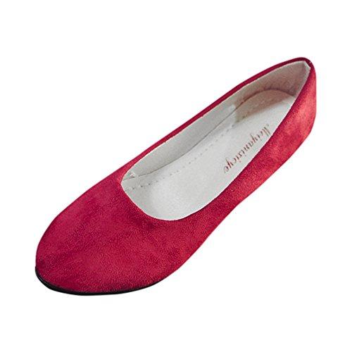 Modaworld scarpe Donna Candy Color Ballerine Casual Bocca Superficiale Scarpe Singole Piatto Elegante Ballerine Flat Scarpe-Ragazza Scarpe da Sposa Scarpe Chiuse Donna