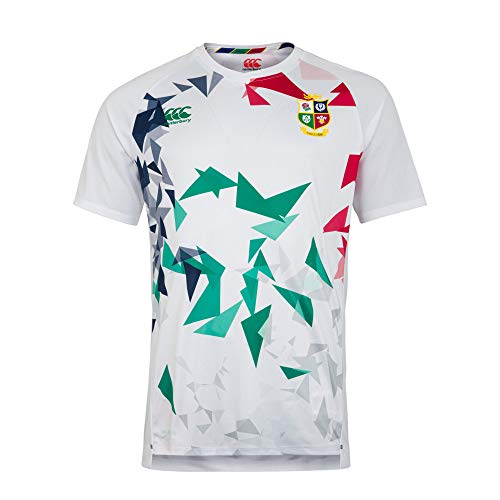 Canterbury Camiseta de Rugby con diseño de Leones británicos e irlandeses, Hombre, Camiseta, 5054773324172, Blanco Brillante, M
