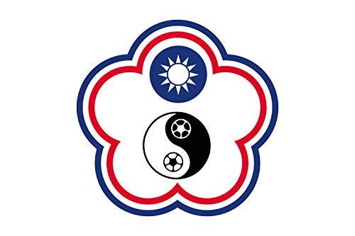 magFlags Flagge: Large Chinese Taipei Football Team | Chinese Taipei Football Team Flag-Other Version | ?????????? | ?????????? / Tiong-huâ Tâi-pak tsiok-kiû t?i-piáu-tu? k&ic