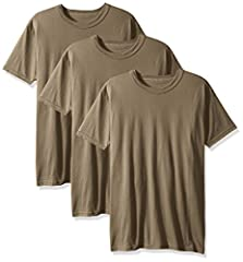 Pack of three crew-neck, short-sleeve tees with shape-retaining necklines The preferred training t-shirt of the US military Soft, combed cotton jersey Perfect for everyday wear, as an undershirt, or for training Strong enough to withstand touch and e...