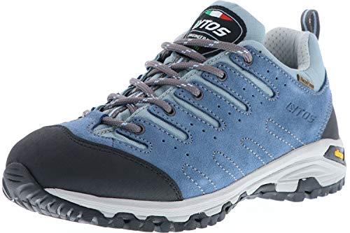 LYTOS Damen Herren Wanderschuhe Trekkingschuhe blau/türkis, Größe:44, Farbe:Blau