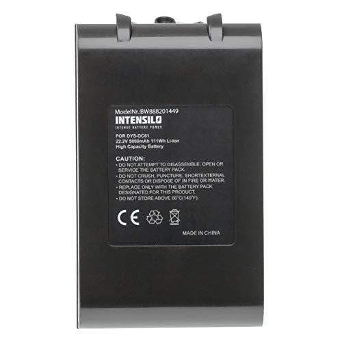 INTENSILO Batería recargable reemplaza Dyson 62350-07/02, 965874-02, 967810-02 para aspiradora, robot de limpieza (5000 mAh, 22,2 V, Li-Ion)