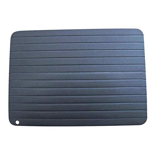 wuxafe Auftauplatten/Mit Tablett Auftauen Tray Plate Board Fast Food Wärmer Schnelles Auftauen Tiefkühlkost Fleisch Fisch/Aluminium