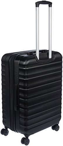 AmazonBasics Hardside Spinner, Carry-On, Expandable Suitcase Luggage with Wheels, 26 Inch, Black