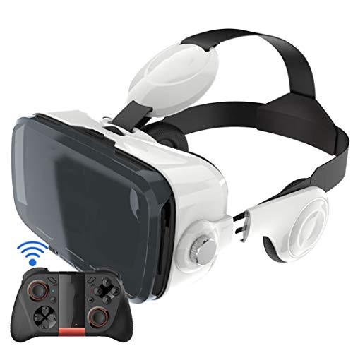 HJSW Fone de ouvido de realidade virtual com óculos de realidade virtual com controle de videogame para filmes e videogames para iPhone 12/Pro/Max/Mini/11/X/Xs/8/7 para telefones Samsung e Android, com 4,7 a 6,8 polegadas