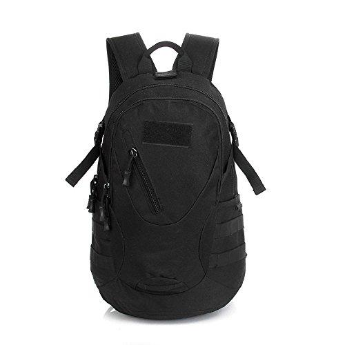 Contever® Unisex Sac à dos de sport Ultra-Léger Pour camping, randonnée, cyclisme, fitness Sac étanche--Noir