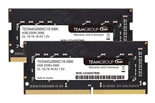 Team ノートPC用 SO-DIMM DDR4 2666MHz PC4-21300 4GBx2枚組 8GBkit 無期限保証