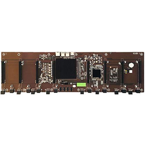 HM65 Chip 8 Ranura para Tarjeta BTC Todo el Condensador de Estado sólido Tarjeta gráfica múltiple Soporte de Placa Base de minería 1660/2070 / 3090 / Rx580 Negro